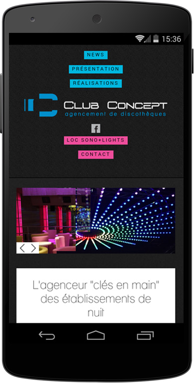 Site mobile Club Concept